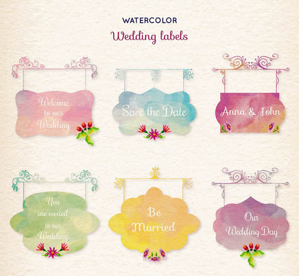 Signboard wedding label