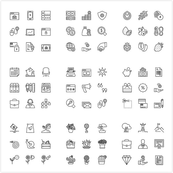 Single line small icon vector