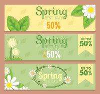 Spring discount banner