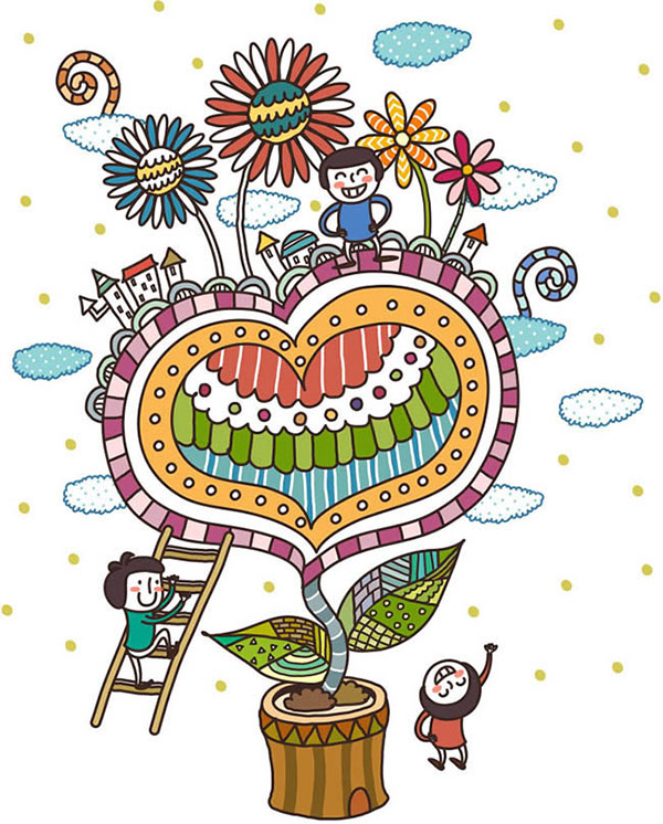 Spring illustration for children