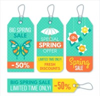 Spring promotion tag