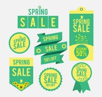 Spring promotional labels