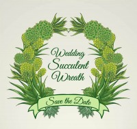 Succulents wedding Garland