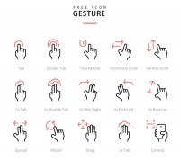 Touch screen gesture Icon