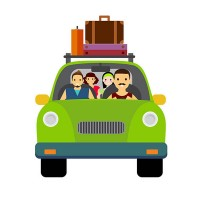 Tourism traffic vector