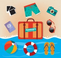 Travel goods vector