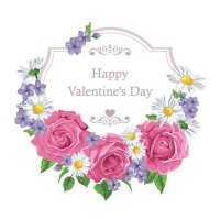 Valentine s Day flower wreath