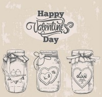 Valentine s day wishing bottle