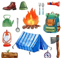 Water color camping equipment