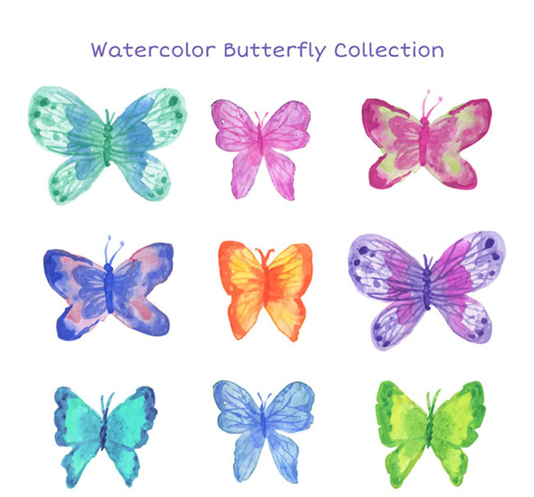 Water painted Butterfly
