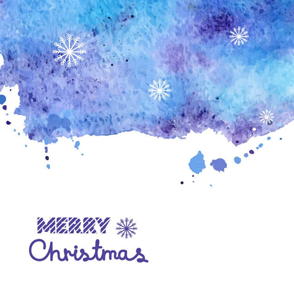 Water painted Christmas cards