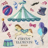 Water painted Circus