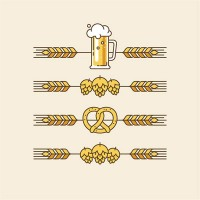 Wheat and wine glasses Icon