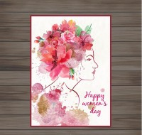 Women s Day card vector