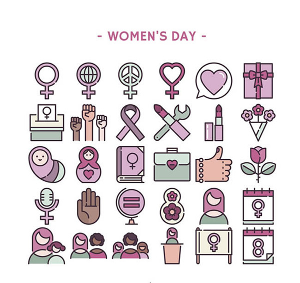 Women s Day icon vector