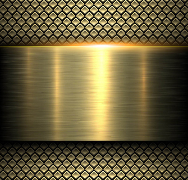 Yellow stainless steel background