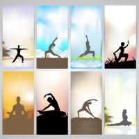 Yoga action vector
